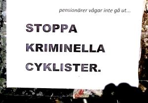 kriminella cyklister